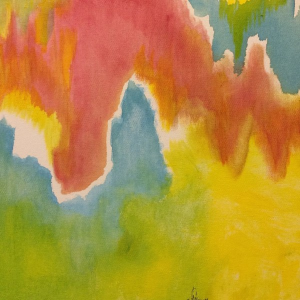 Red Yellow And Blue Abstract Painting Art