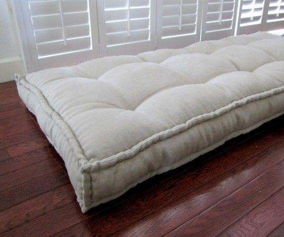Linen Daybed Mattress Custom Cushions Tufted Linen Cushion