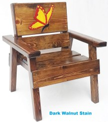 Whimsical Painted Kids Chair Childrens Outdoor Patio Wood