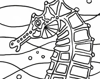 Beach Themed Coloring Images and Project by ColorCoastalArt