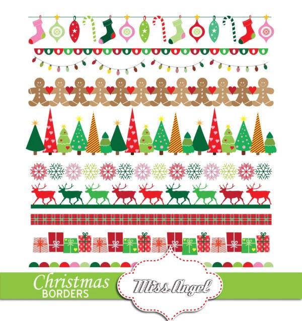 christmas bunting banners. digital