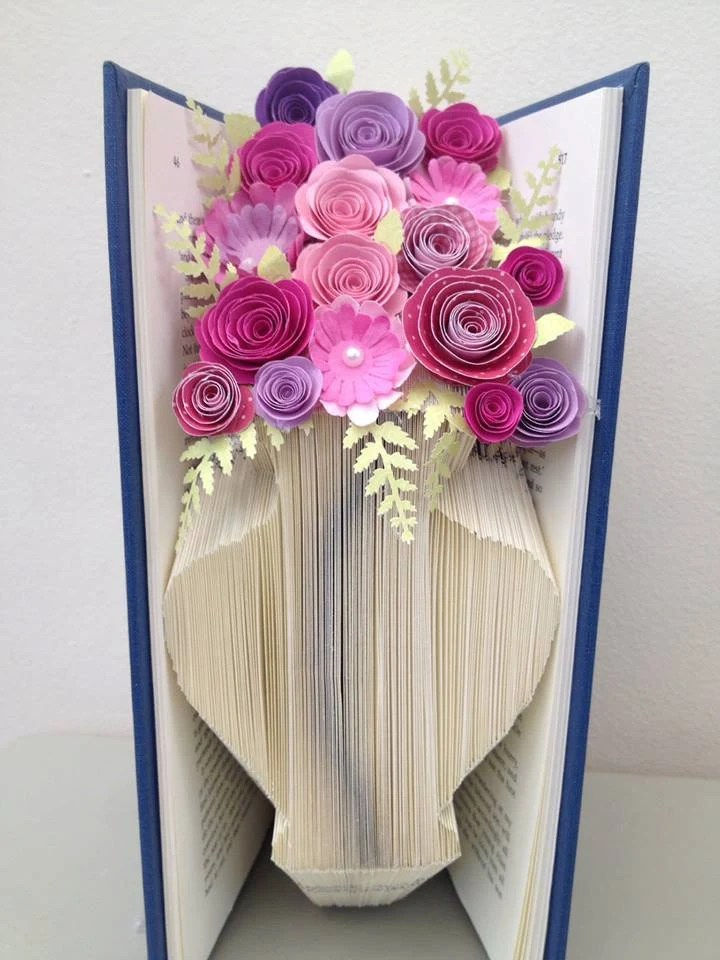 Book Folding Pattern Vase Flower Vase Free Tutorial
