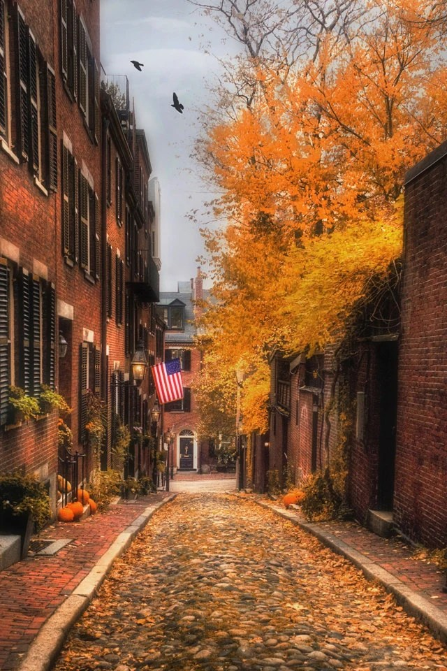 Note 8 Fall Wallpapers Beacon Hill Boston Photography Boston Prints Acorn Street