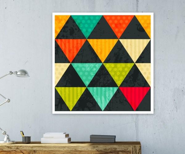 Scandi Print Abstract Wall Art Geometric Honeytreeprints