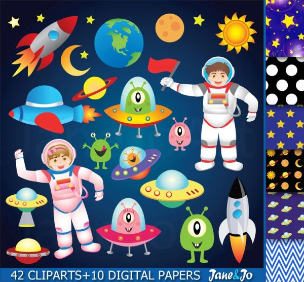 space clipart outer