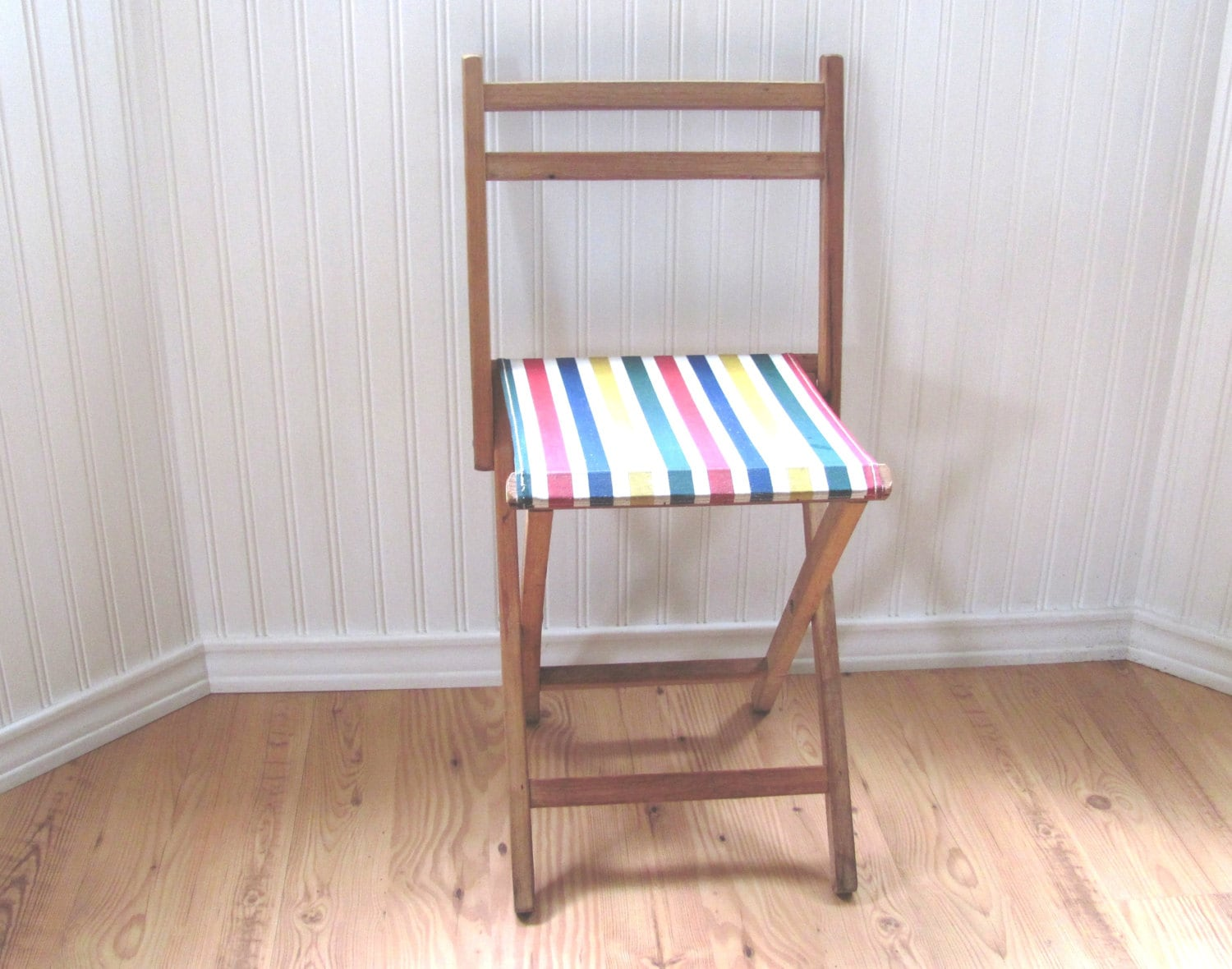 wood camp chair wheelchair malaysia vintage folding striped canvas