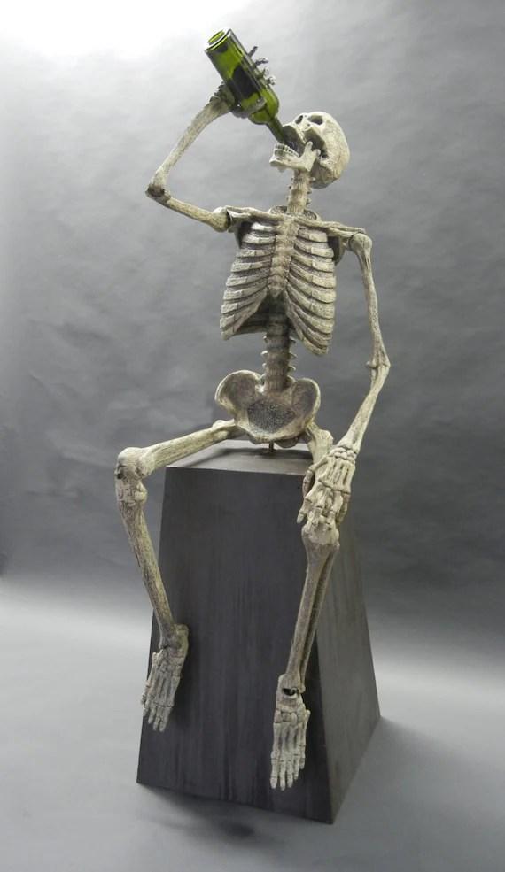 Drinking Skeleton Tipsy Animation Animated Halloween Prop
