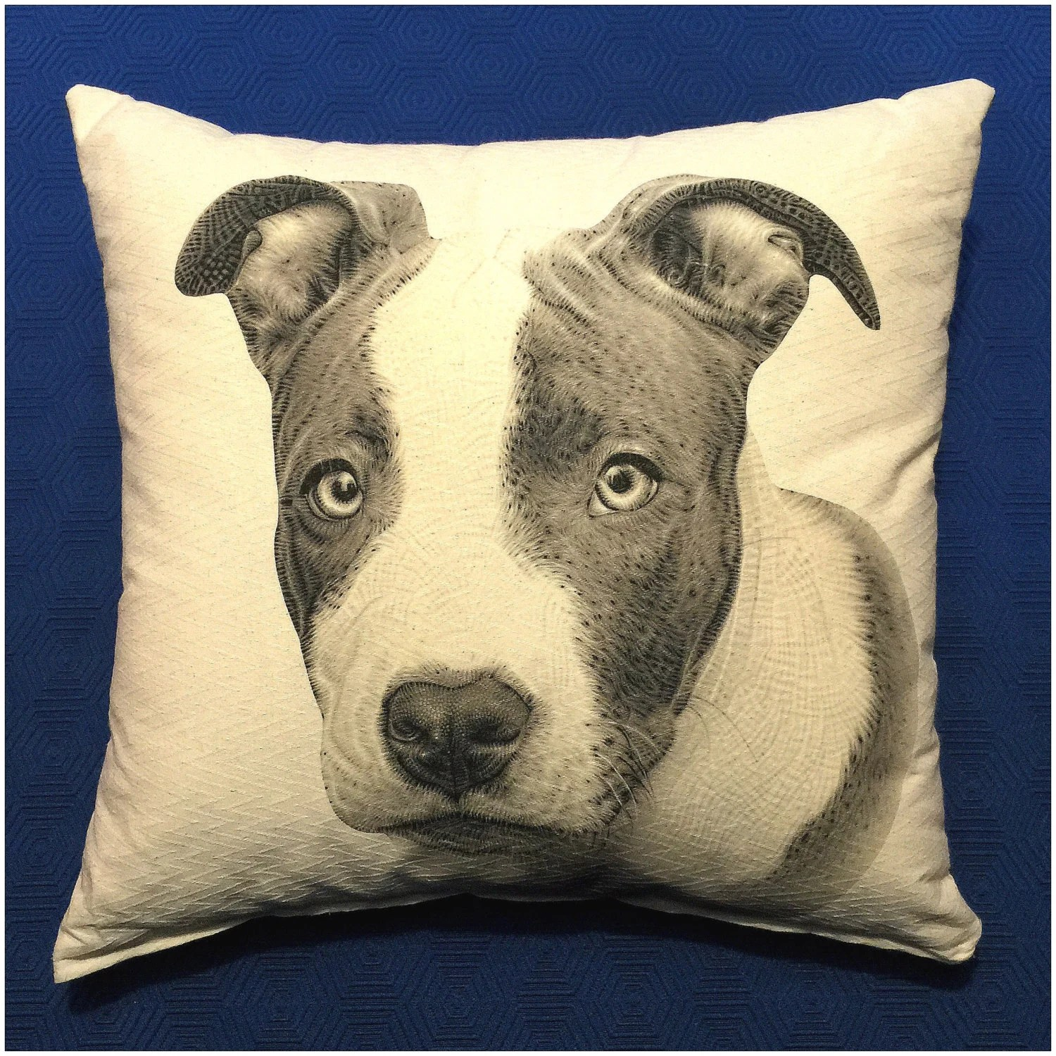 Pitbull pillow cover dog pillow animal pillow pit bull