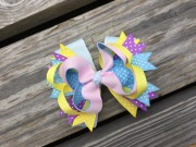 stacked hair bows boutique