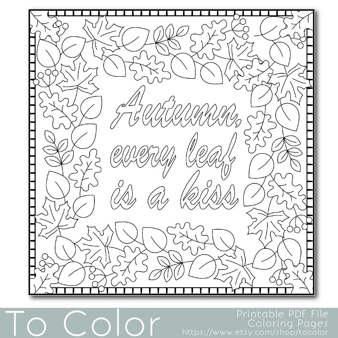 Printable Relax Coloring Page for Adults PDF / JPG by ToColor