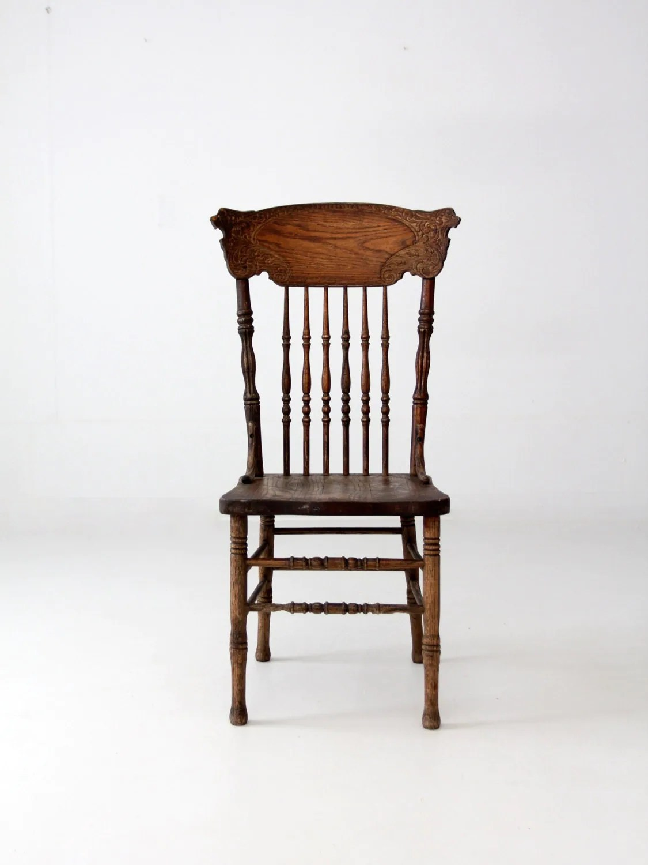 press back chair bottom pads antique oak pressed