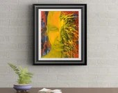 In The Mind and Reality Signed Art Print of Signature Original By Rafi Perez