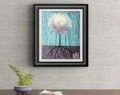 White Lollipop Tree Signed Art Print of Signature Original By Rafi Perez