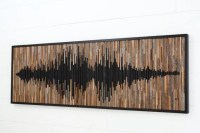 Wood wall art abstract sound wave Different by CarpenterCraig