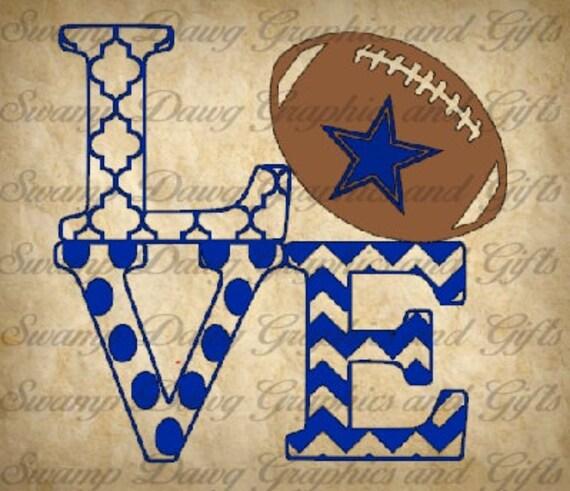 Download Cowboys Love cut file silhouette cricut svg decal vinyl