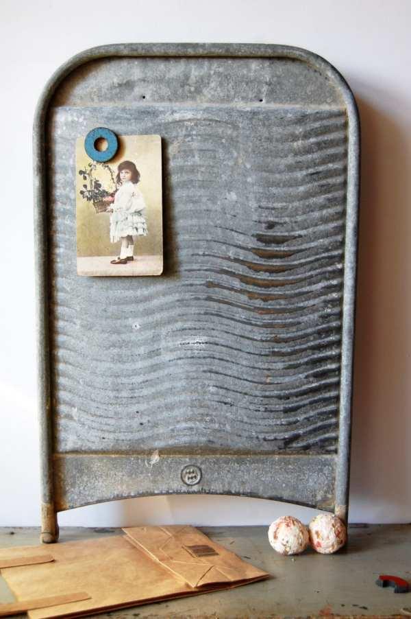 Vintage Metal Washboard Rustic Laundry
