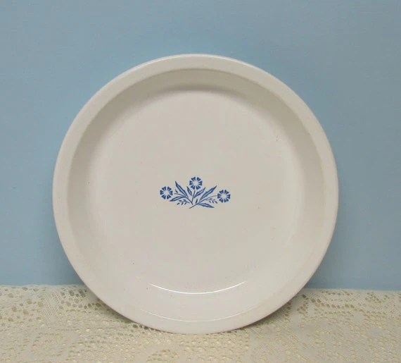 Corning Ware Cornflower Pie Plate 9 inch Cottage Dcor