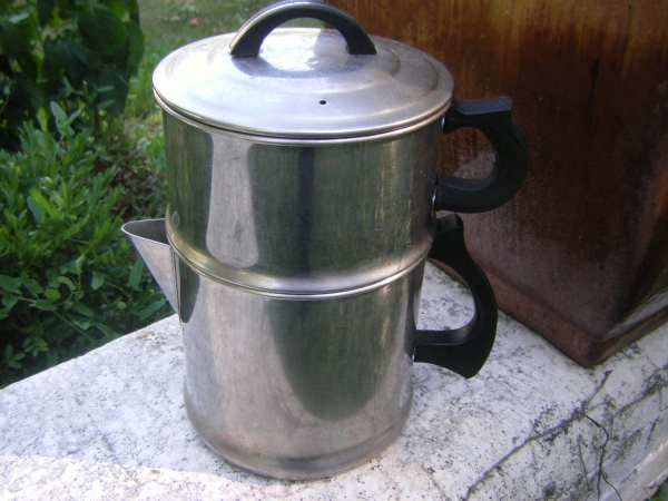 Stainless Steel Double Boiler Coffee Pot Percolator