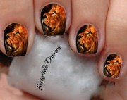 lion nail art
