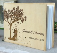 Personalized Wedding-Anniversary-Bridal Shower Guest Book
