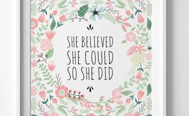 She Believed She Could So She Did Printable By