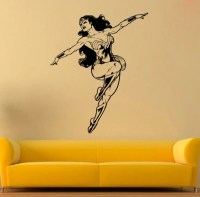 Wonder Woman Vinyl Sticker Wonder Woman Wall Decal by