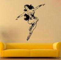 Wonder Woman Vinyl Sticker Wonder Woman Wall Decal by ...
