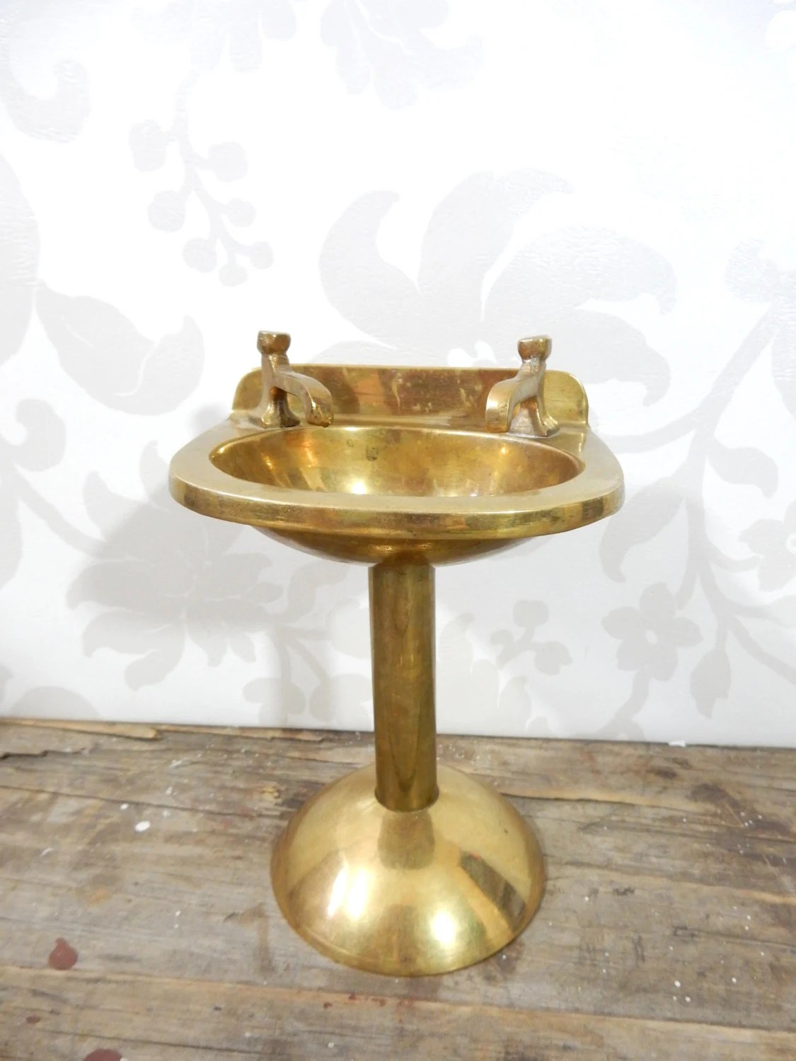 Brass Pedestal Sink Figure 5 inches tall bathroom fixture