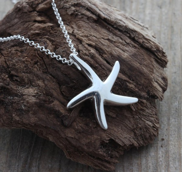 Sterling Silver Starfish Pendant Big