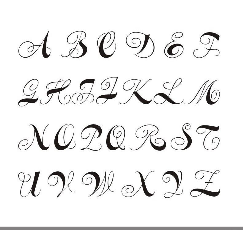 Monogram font cross stitch pattern, 50 sts tall font chart