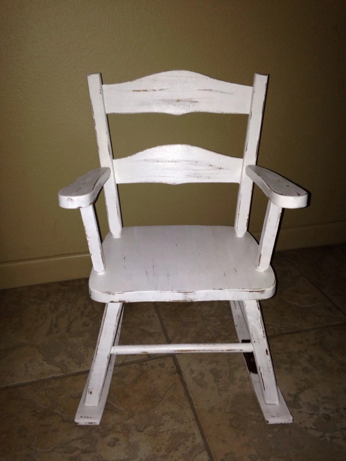 Rocking Chair White Antique White Rocking Chair Musical Child Toddler Shabby