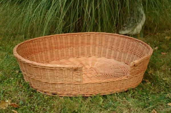 Medium Large Dog Bed Basket Wicker Furniture