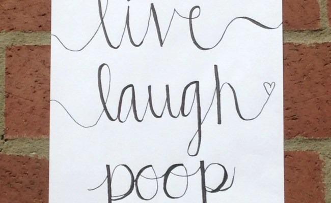 Bathroom Wall Art Quote Funny Canvas Calligraphy Live Laugh