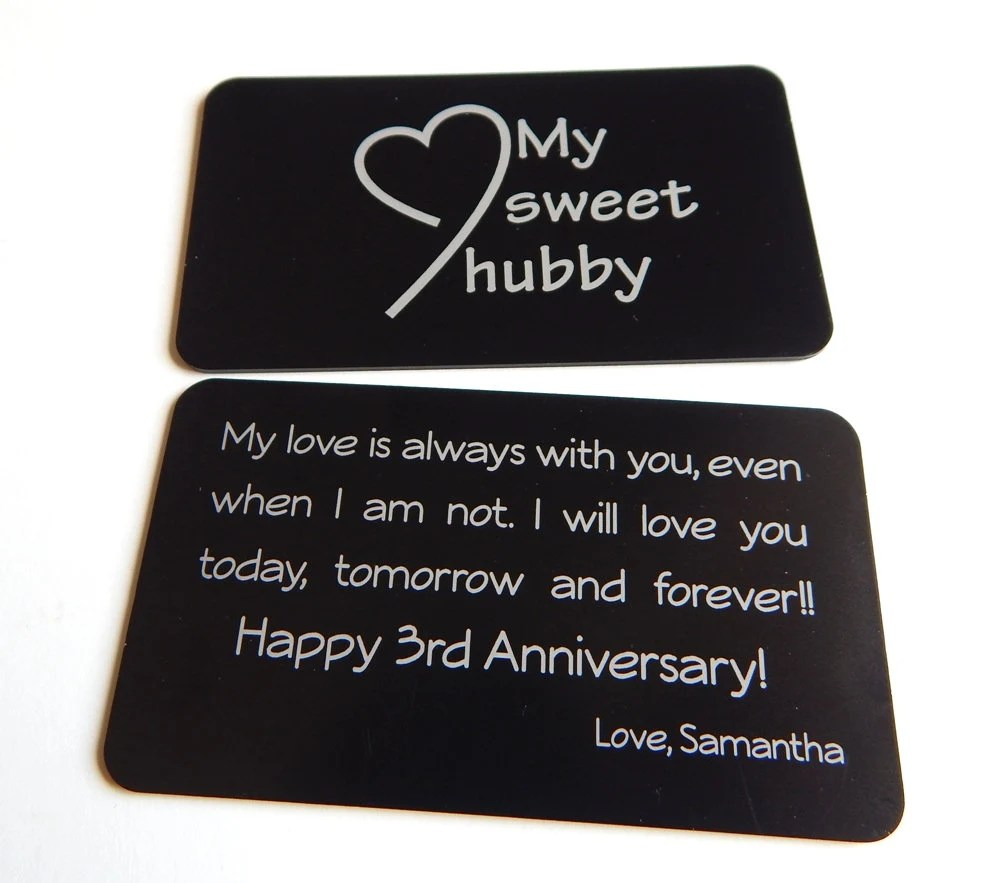 3rd Wedding Anniversary Gift To My Husband Gift From Wife To
