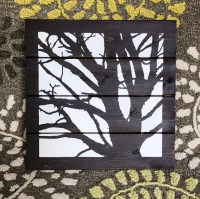 Tree silhouette wall art decor plaque painted by HadleyAndRuth