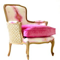 French Bergere Chair Table Chairs Outdoor Furniture Upholstered Pink Opal