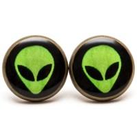 Alien Stud Earrings Alien Jewelry UFO Space Earrings by ...