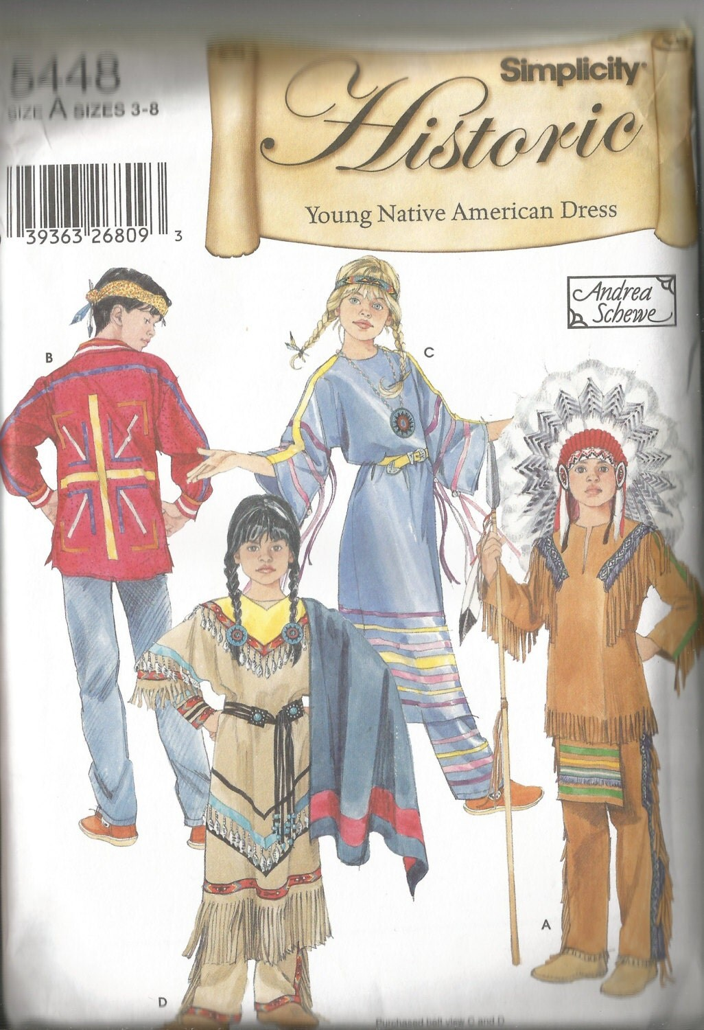 Children S Native American Costume Pattern Pants By