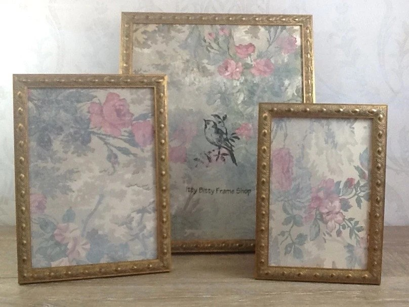 Vintage Style Gold Picture Frame 4x6 5x7 8x8 8x10 by
