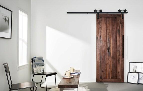 Custom Built Solid Walnut Rustic Sliding Barn Farm Door