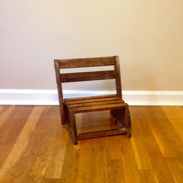 Child's Wooden Chair Step Stool