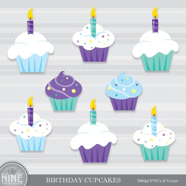 boy birthday cupcakes clipart clip