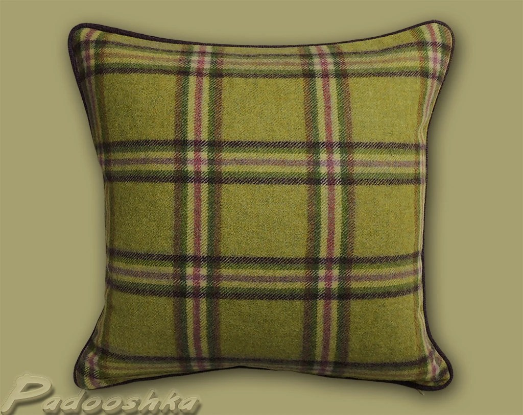 plaid sofa cushions comfort sleeper contemporary throw pillow cover luxurious tweed