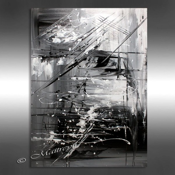 Oil Painting Black White Abstract Art 40 Artwork