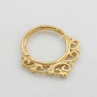 Gold Septum Ring. 18g nose ring. indian septum ring. nose