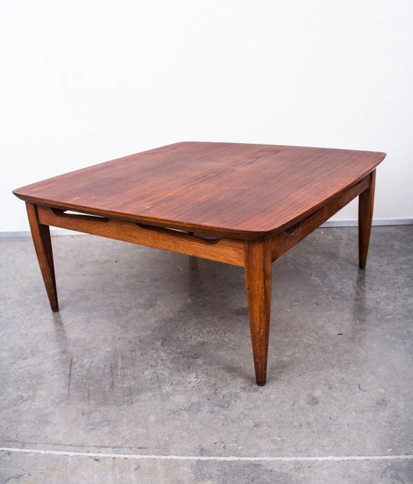 Mid Century Lane Copenhagen Drop Leaf Coffee Table: Mid Century Modern Coffee Table Side Vintage Lane