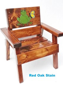 Whimsical Painted Wood Kids Chair Birthday Boy