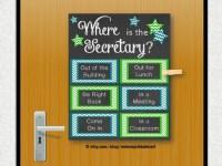 School Secretary Gift Office Gift Door Decoration Gift for