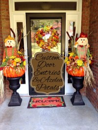 Custom Fall Door Entrance Decor Scarecrow Front Door