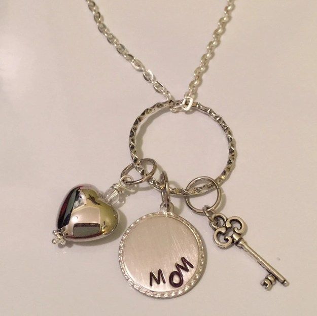 Key to my Heart Mom Charm Necklace